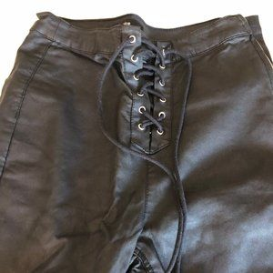 Faux Leather Black Jeggings